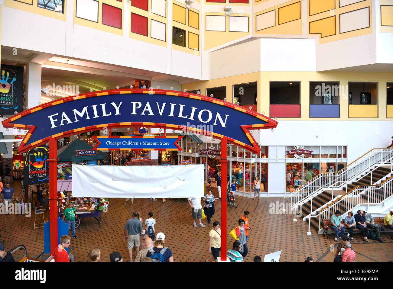 Inside Navy Pier Chicago, Illinois - Stock Image
