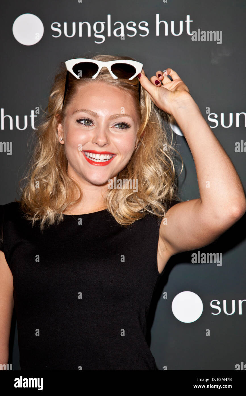 61ebcf0d3f The grand opening of Sunglass Hut s new Times Square store Featuring   AnnaSophia Robb Where  New York City