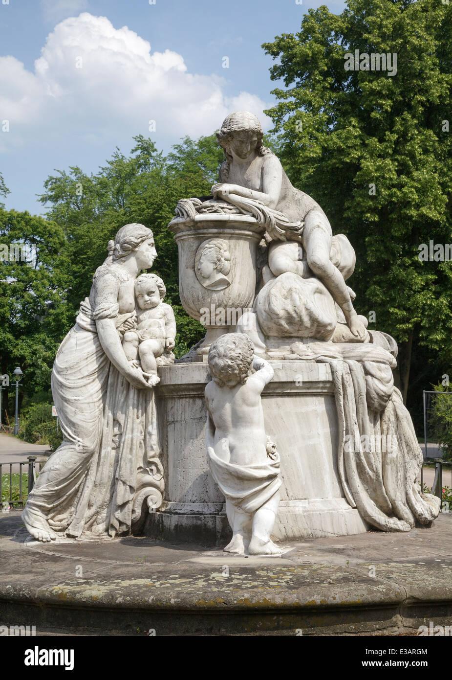 CarolineMatildaMonumentin the French Garden, Celle, Lower Saxony, Germany - Stock Image