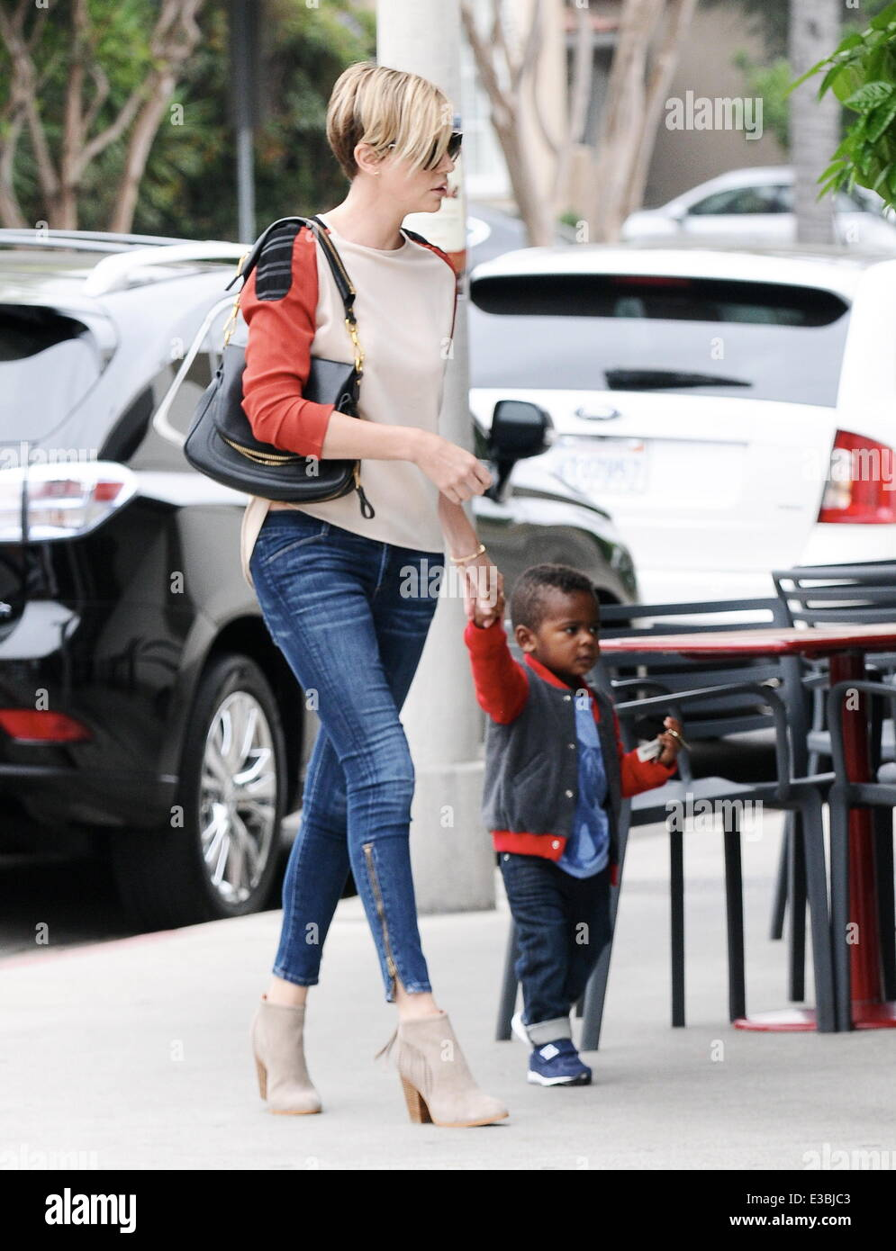 Charlize Theron Spotted With Her Son Jackson Out For A Lunch Date At