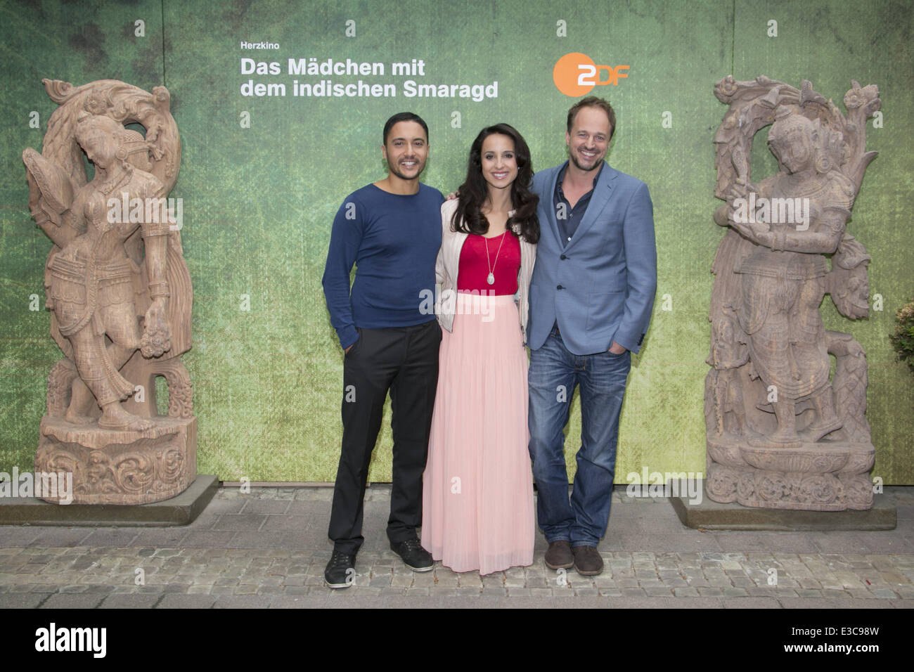Photocall For The Zdf Tv Movie Das Mädchen Mit Dem Indischen Smaragd