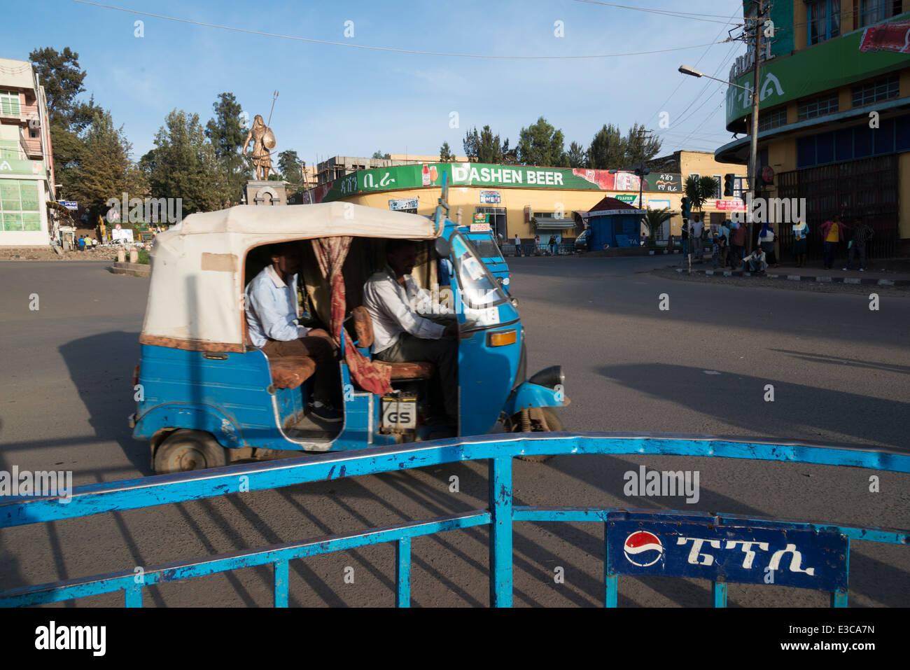 Road traffic. Gonder. Northern Ethiopia. - Stock Image