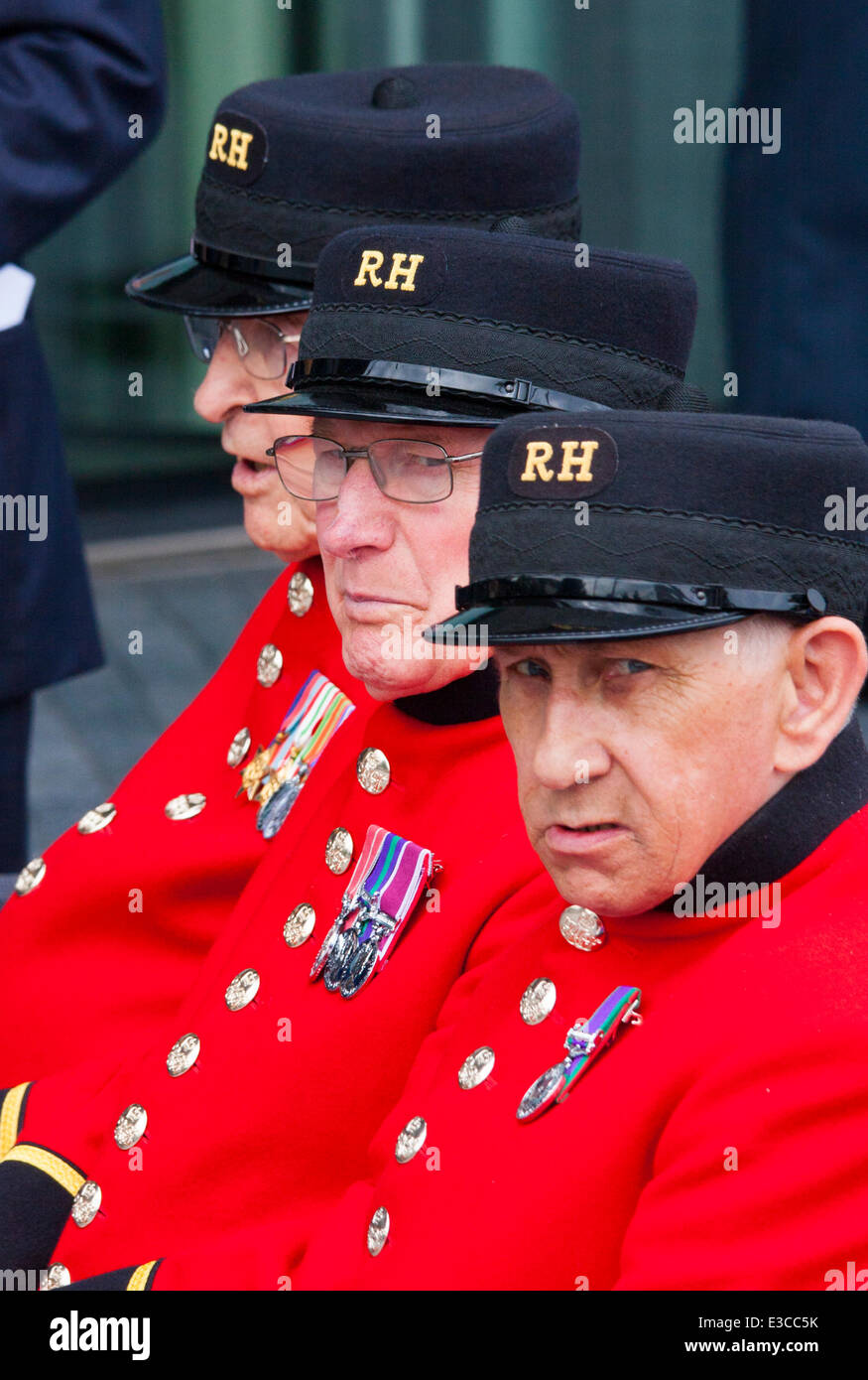 London, UK. 23rd June, 2014. Chelsea Pensioners are  among those attending as members and veterans of the military - Stock Image