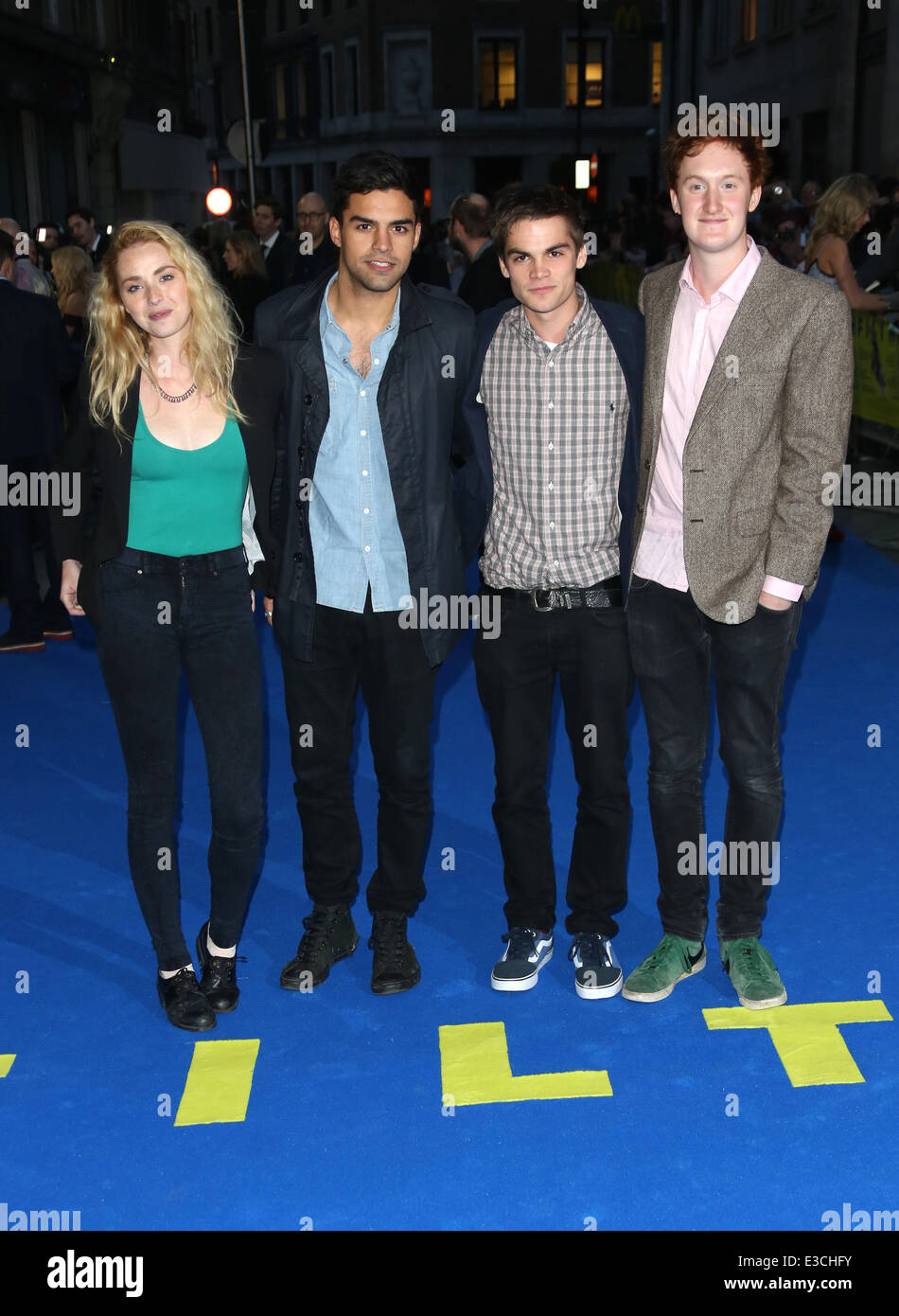 UK premiere of Filth held at the Odeon - Arrivals  Featuring: Freya Mavor,Sean Teale,Sam Jackson,Will Merrick Where: - Stock Image