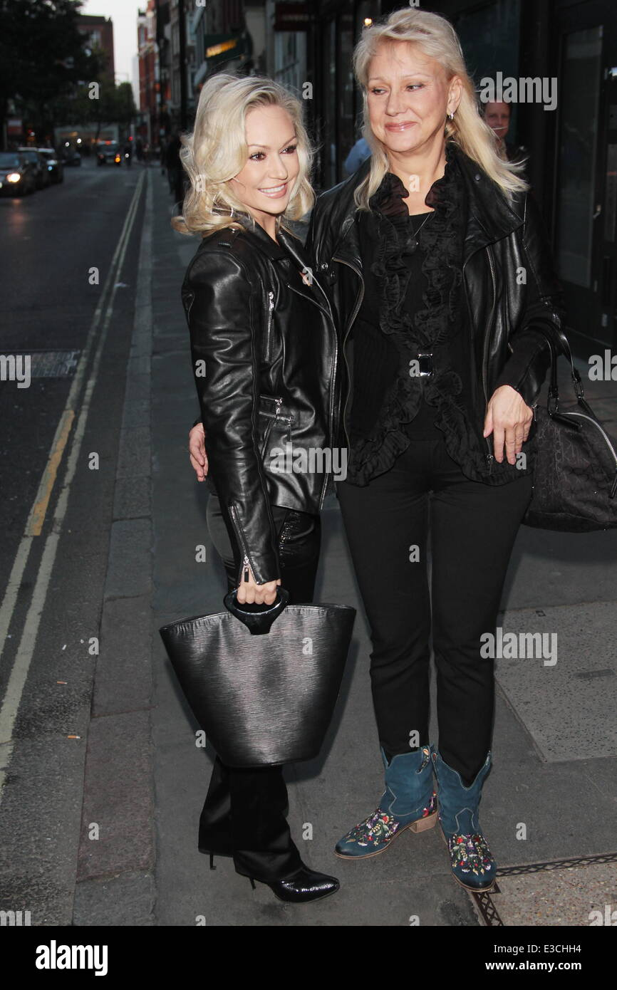 Strictly Come Dancing star Kristina Rihanoff attends lunch with her mother, Larisa in Upper Street despite her split - Stock Image