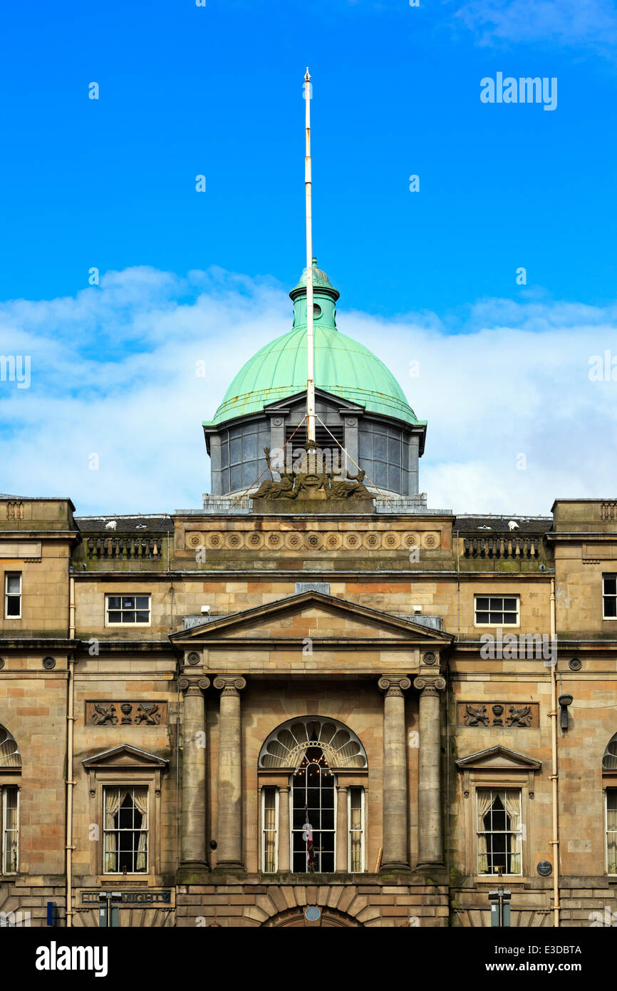 Front facade of the historically renowned Trades Hall, Stockwell Street, Glasgow, Scotland, UK - Stock Image