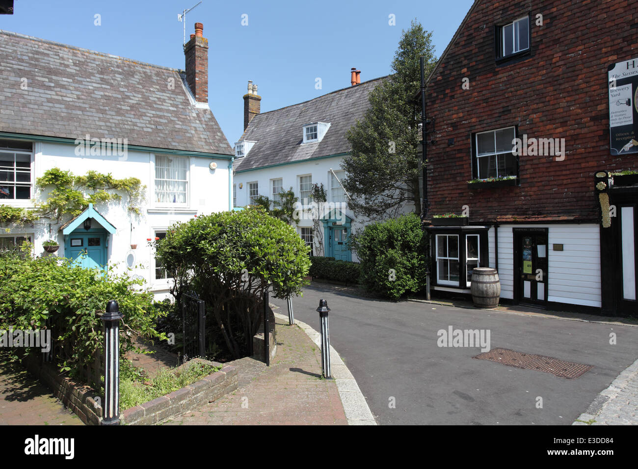 Grade II houses dating to the mid 18th century, lewes - Stock Image