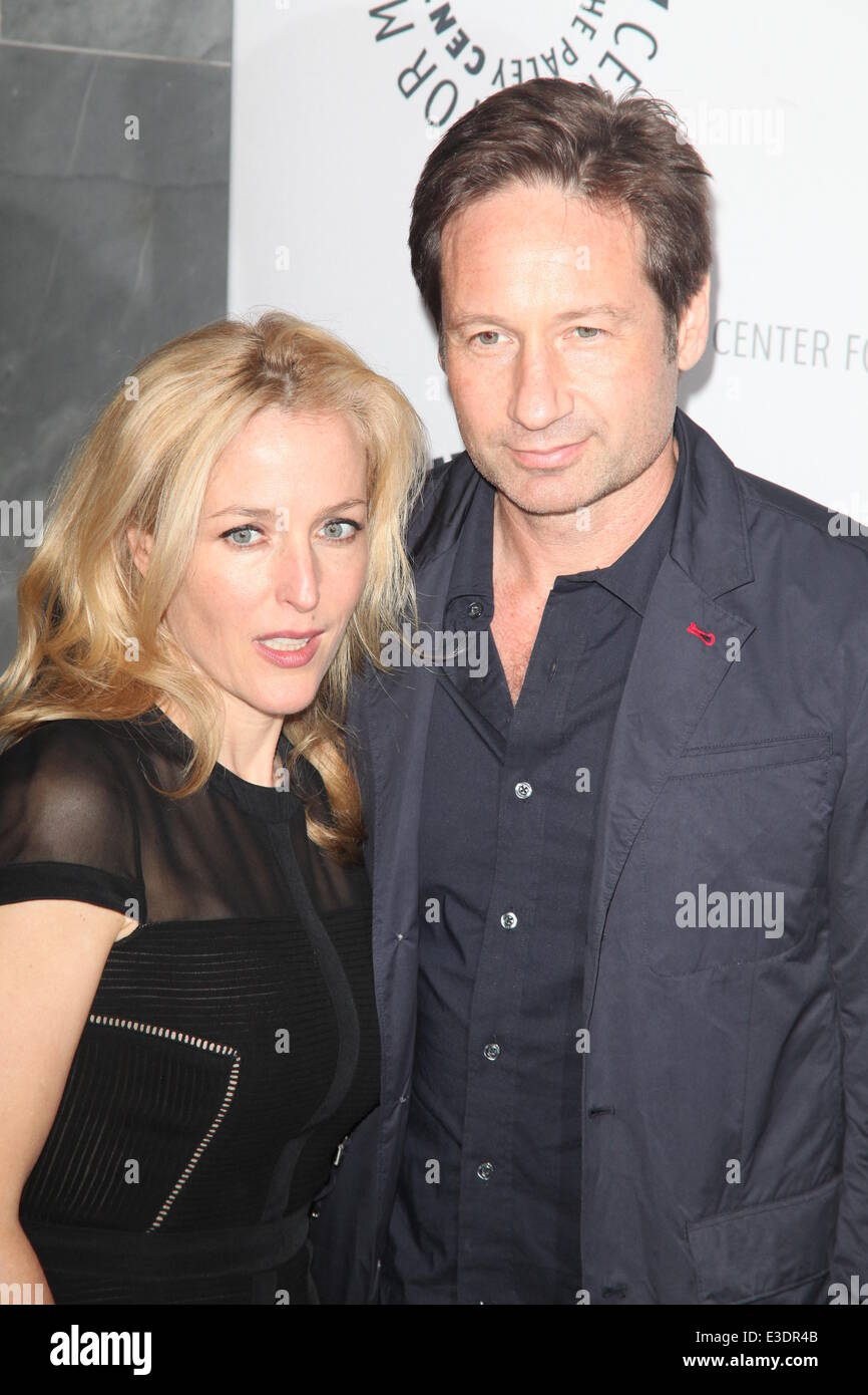 Paley Center Presents X Files  Featuring: Gillian Anderson,David Duchovny Where: NYC, NY, United States When: 13 - Stock Image