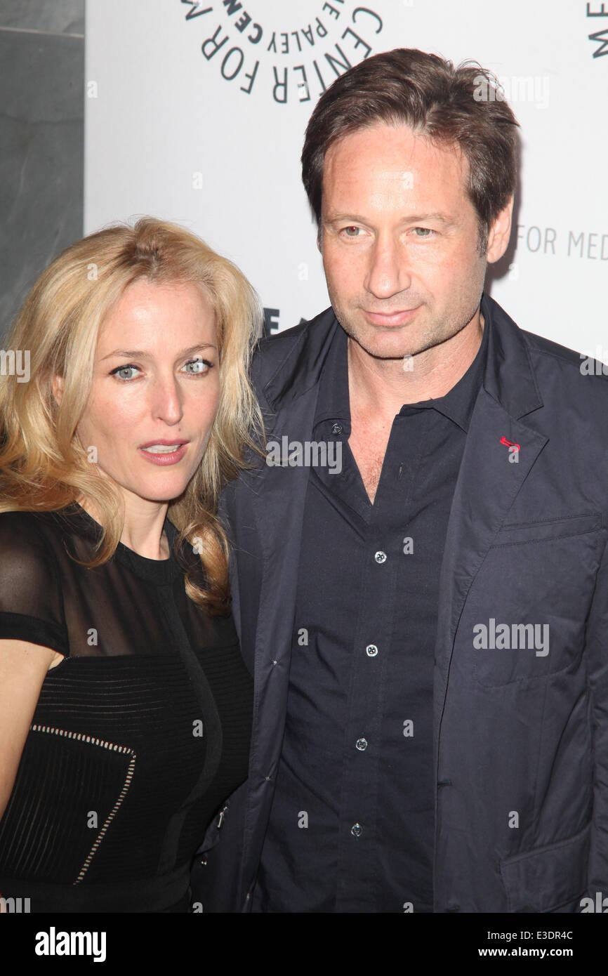 Paley Center Presents X Files  Featuring: Gillian Anderson,David Duchovny Where: NYC, NY, United States When: 13 Stock Photo