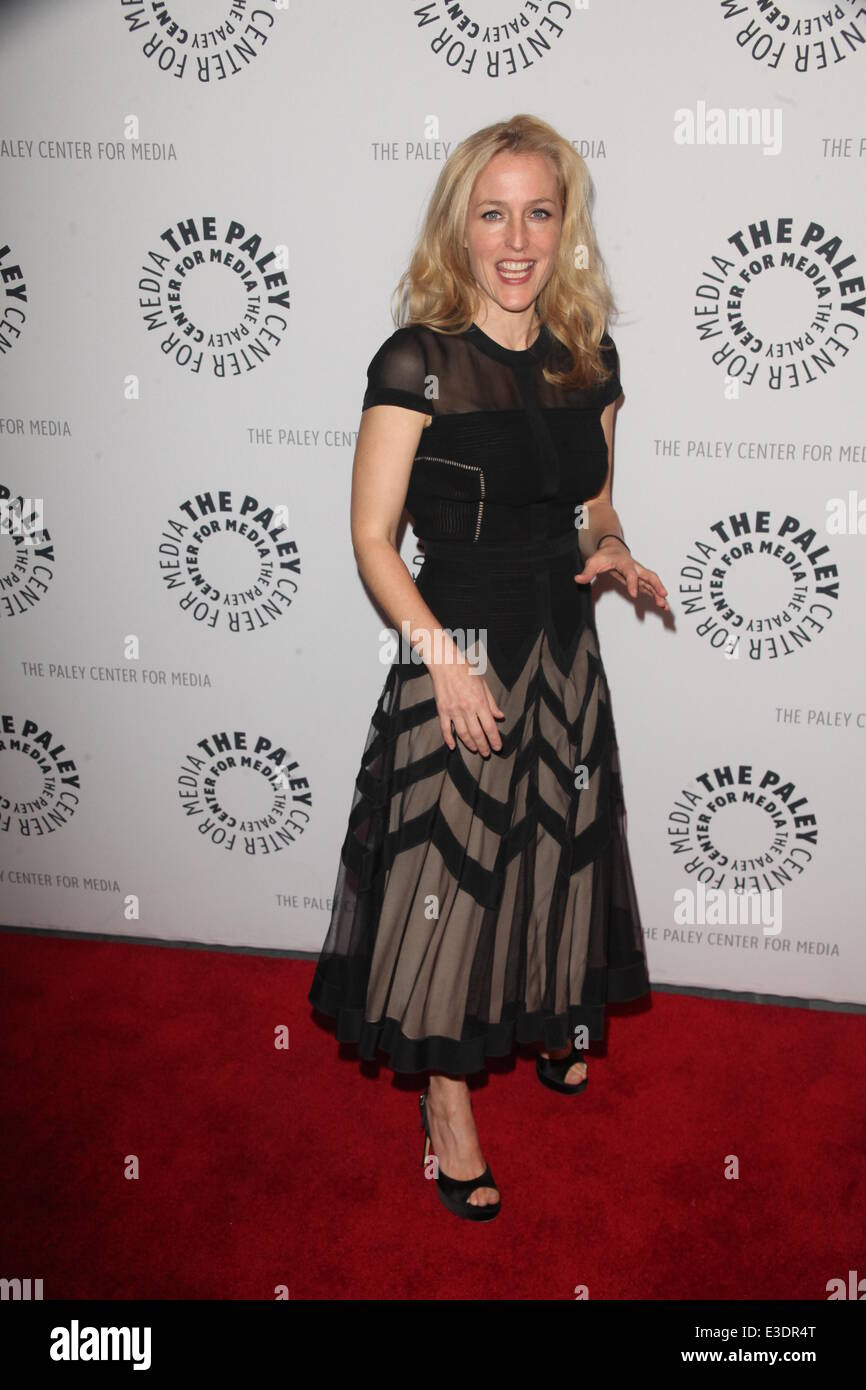 Paley Center Presents X Files  Featuring: Gillian Anderson Where: NYC, NY, United States When: 13 Oct 2013 - Stock Image