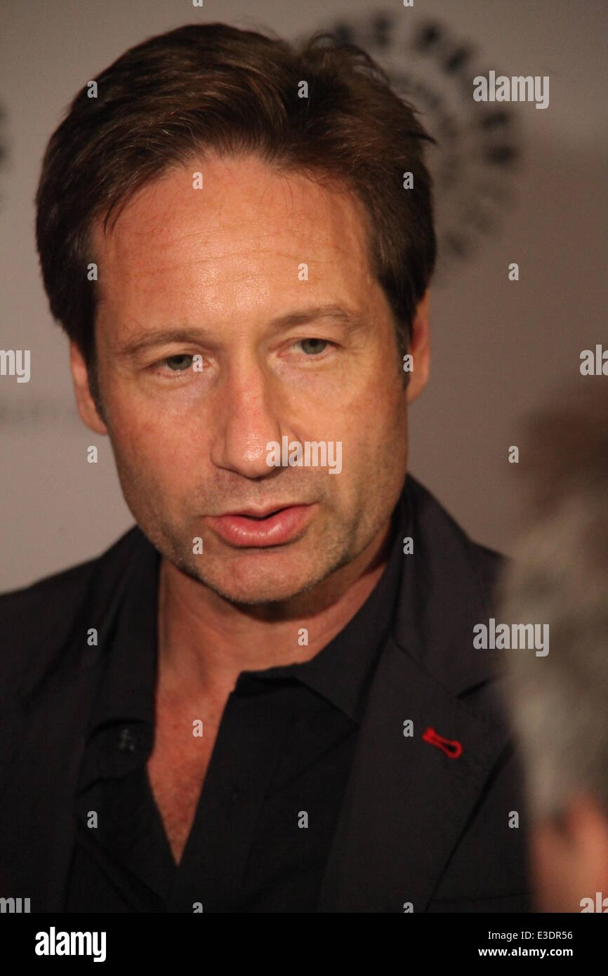 Paley Center Presents X Files  Featuring: David Duchovny Where: NYC, NY, United States When: 13 Oct 2013 - Stock Image
