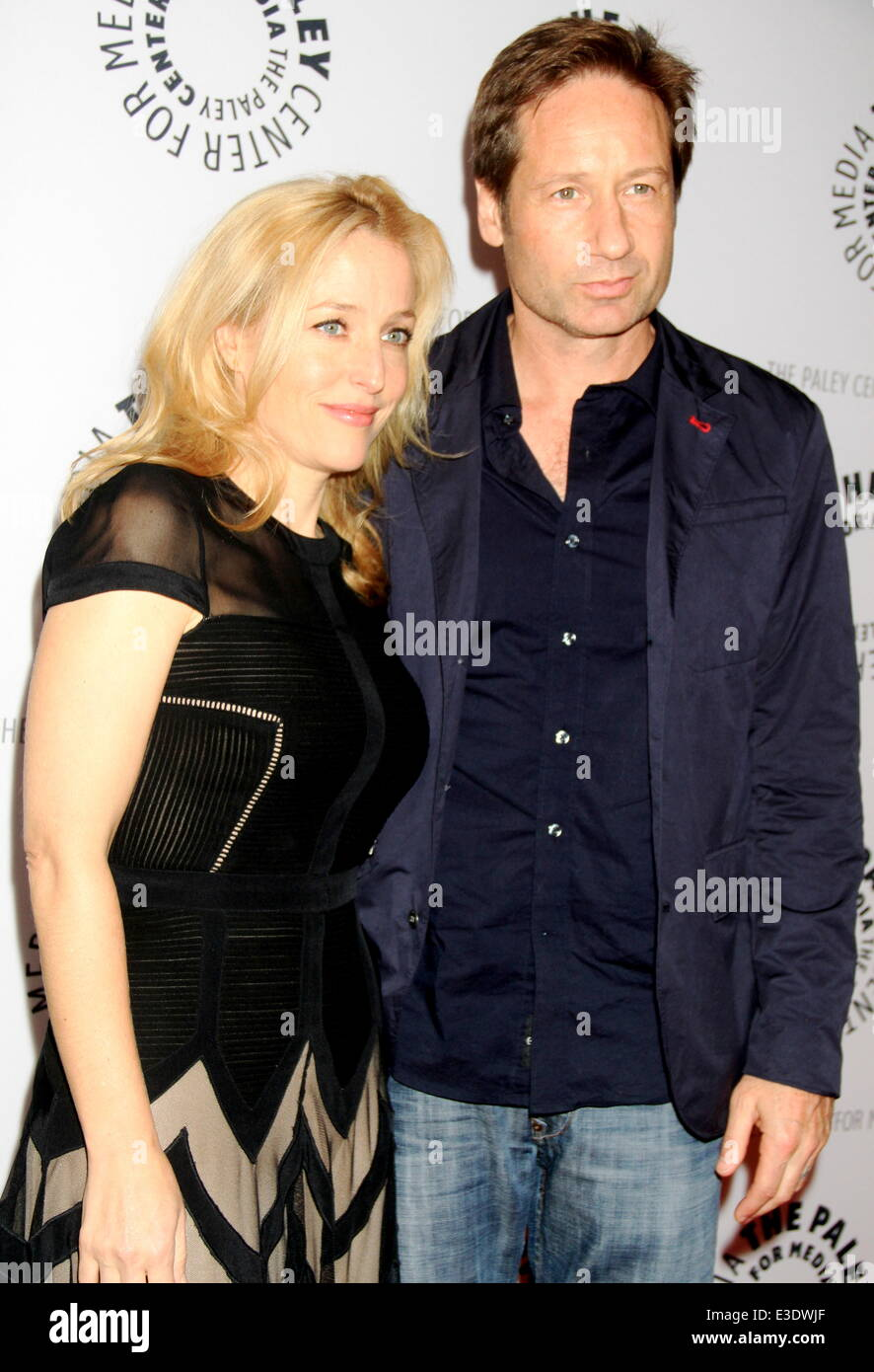 Paley Center for Media  Media presents ''The Truth is Here'' with David Duchovny and Gillian Anderson - Stock Image