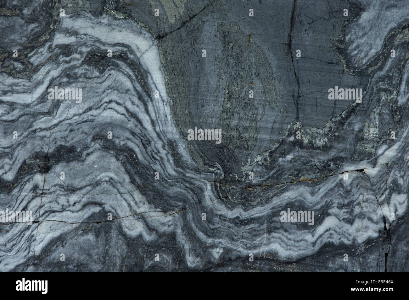 texture of marble wall in quarry as background - Stock Image