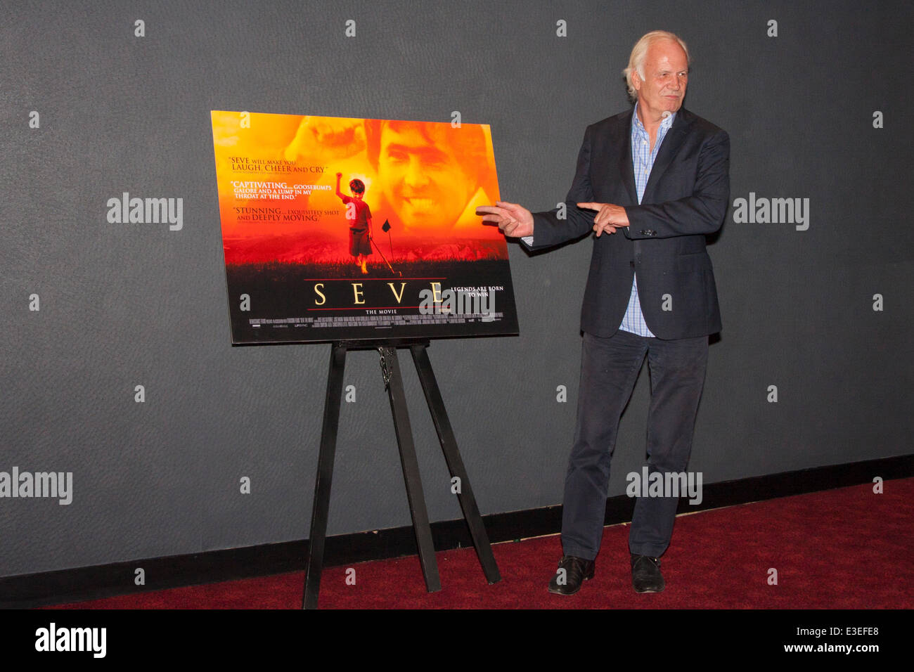 London, UK. 23rd June, 2014. Producer Stephen Evans at the London premiere of his film Seve, a biopic of the life - Stock Image