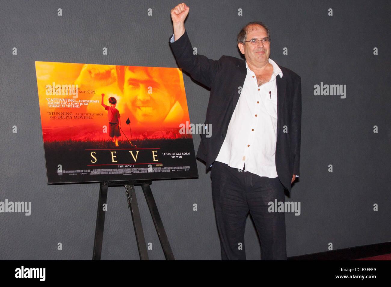 London, UK. 23rd June, 2014. John-Paul Davidson, Director, at the premiere of his film Seve, a biopic of the life - Stock Image