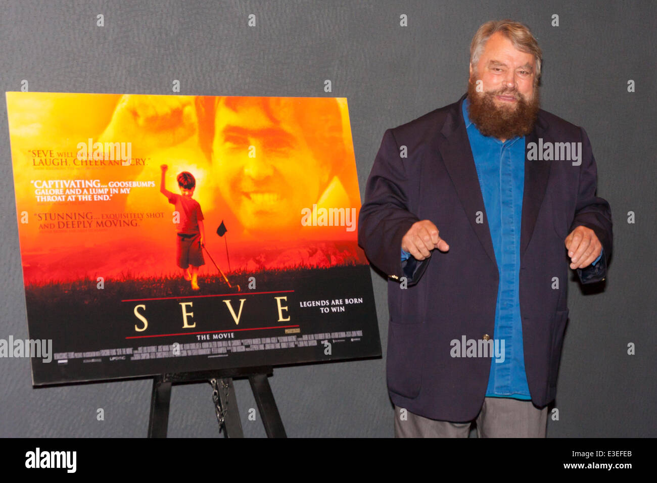 London, UK. 23rd June, 2014. Actor Brian Blessed attends the premiere of the film Seve, a biopic of the life of - Stock Image