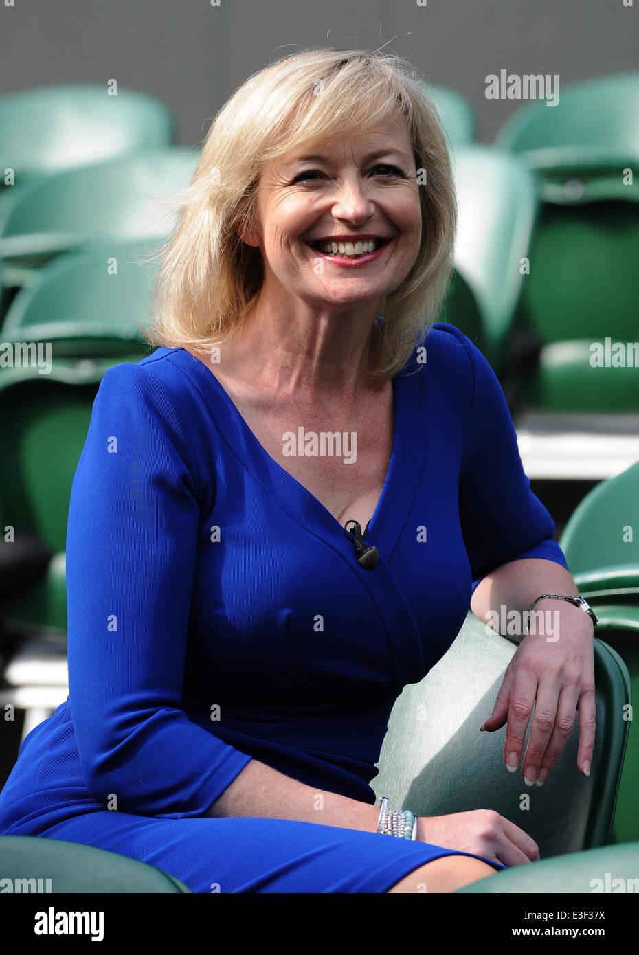 CAROL KIRKWOOD BBC WEATHER PRESENTER THE ALL ENGLAND TENNIS CLUB WIMBLEDON LONDON ENGLAND 23 June 2014 - Stock Image