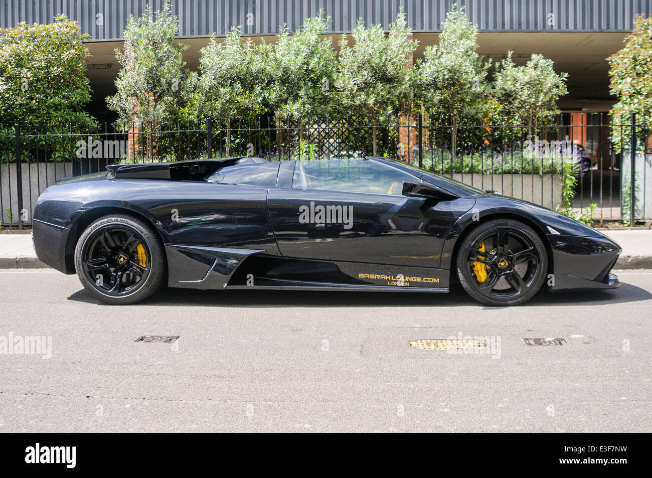 Black Lamborghini Gallardo   Stock Image
