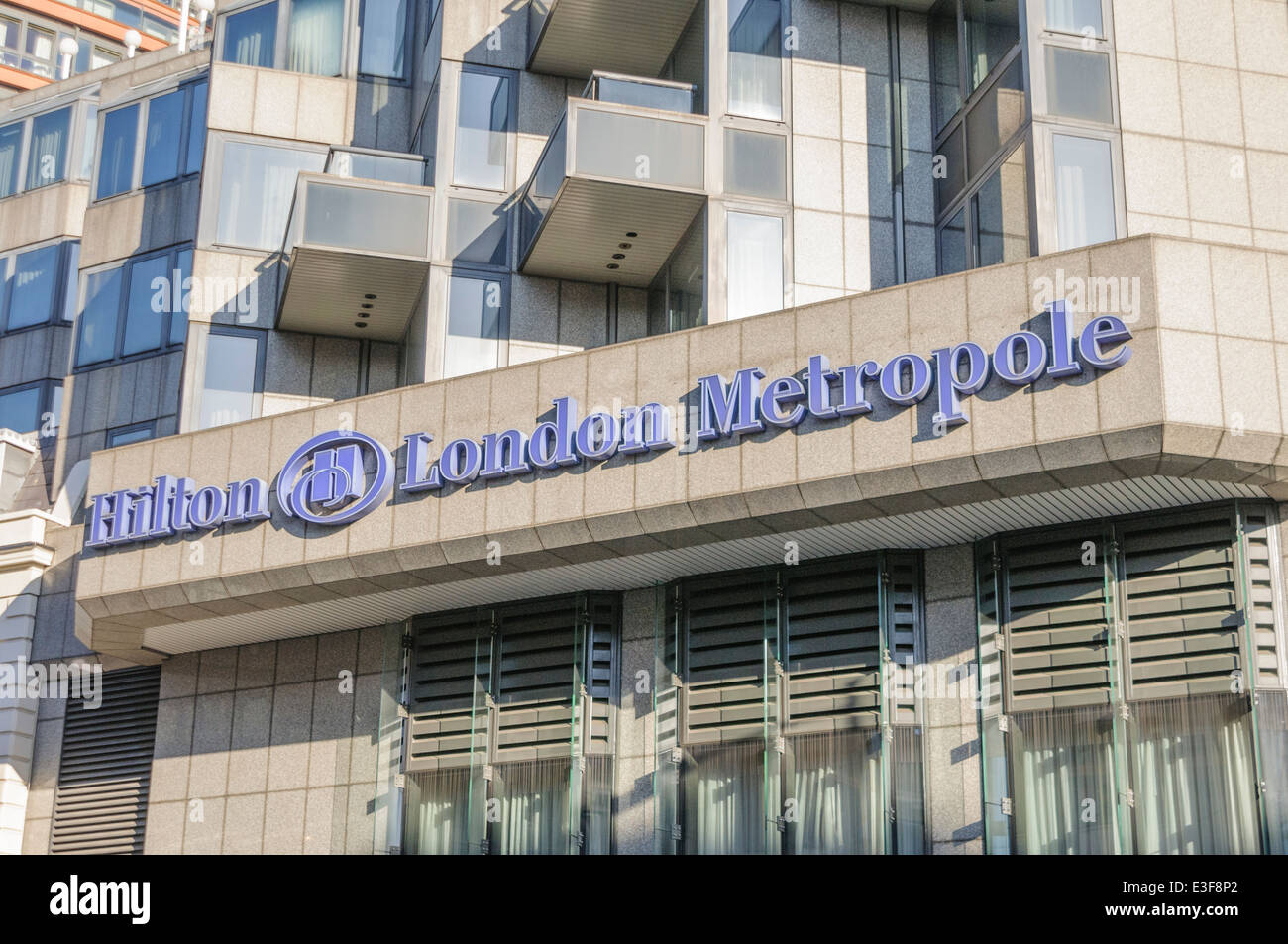 Hilton London Metropole Hotel - Stock Image