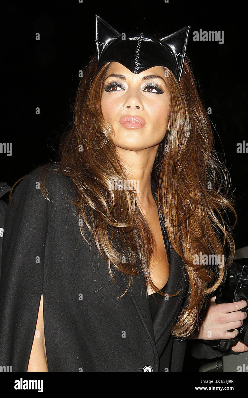 Nicole Scherzinger Halloween Costume.Nicole Scherzinger Arrives At Jonathan Ross Halloween Party Dressed