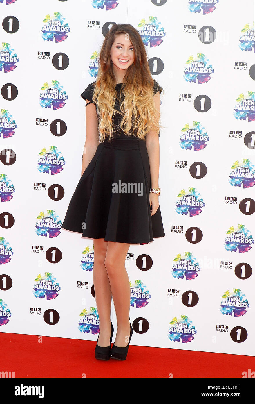 bbc radio one teen awards at wembley arena featuring: zoella where