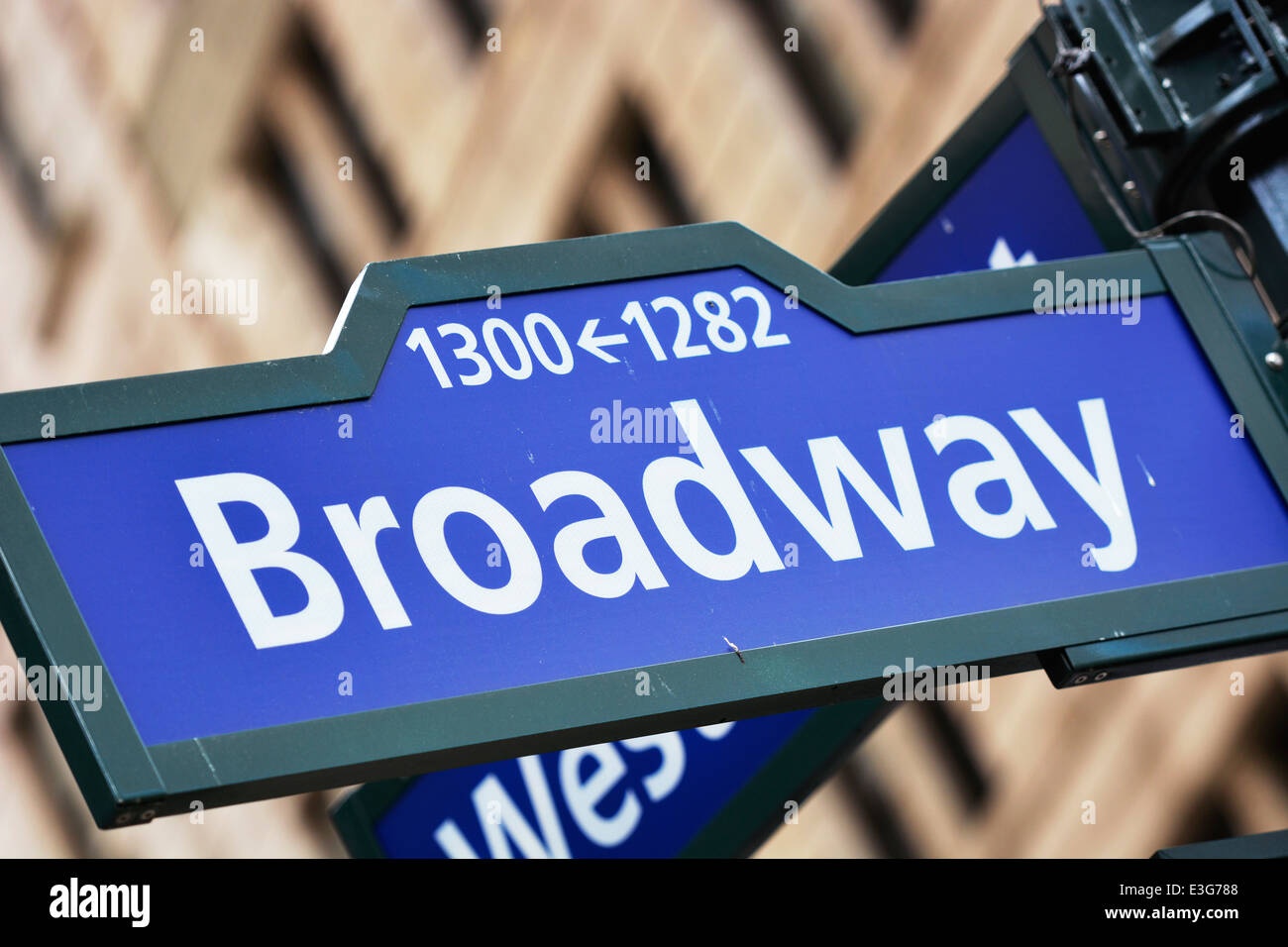 Broadway Street Sign, Directions - Stock Image