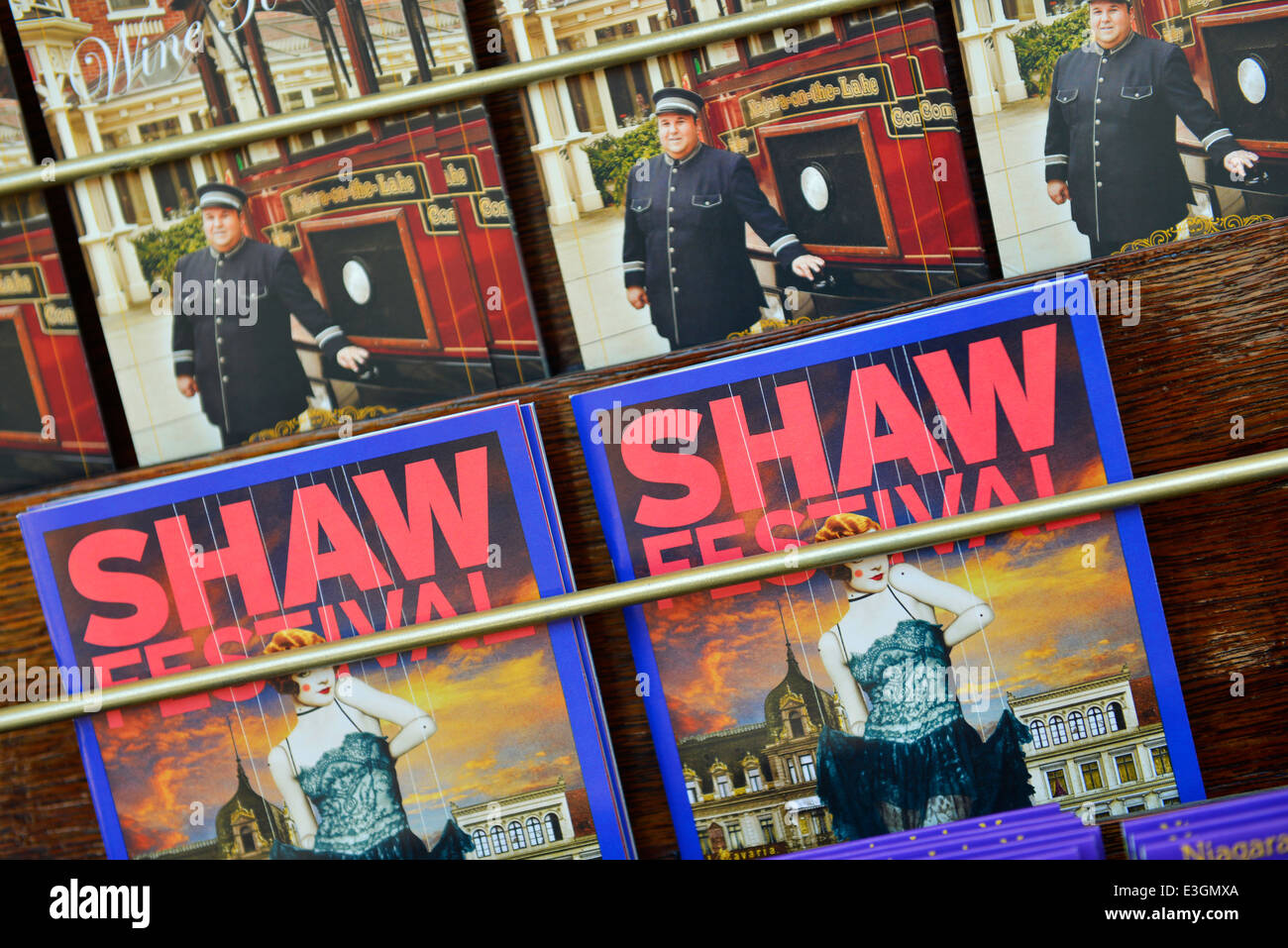 Shaw Festival Guides, Booklets, Niagara-on-the-Lake, Ontario, Canada - Stock Image