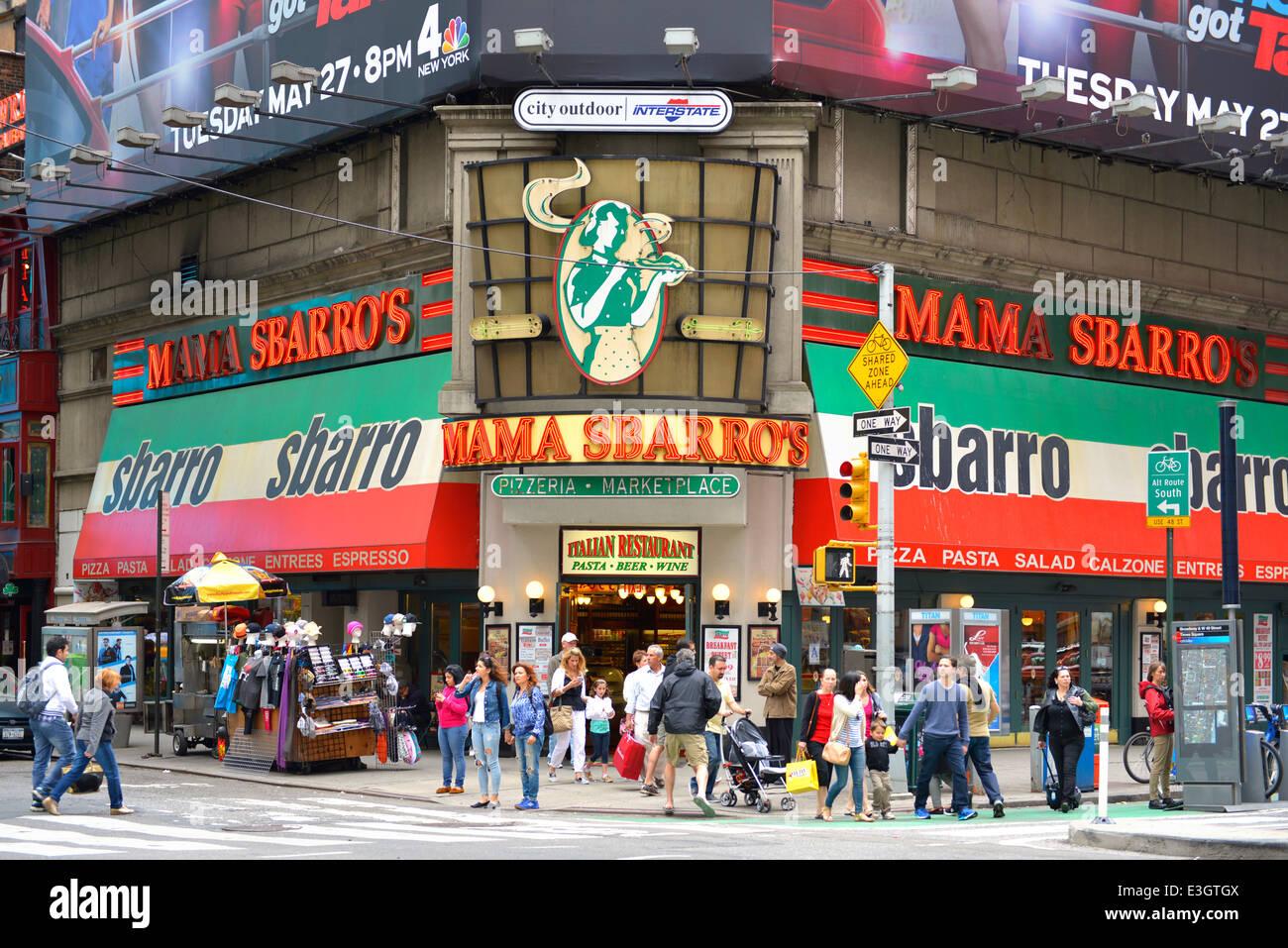Sbarro, Mama Sbarro's, Times Square, New York - Stock Image