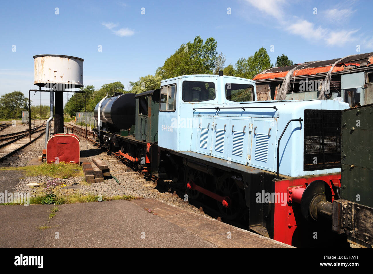Batchelor Robinson & Co Ltd Ruston Class LPSE 0-4-0 diesel shunter number 544998, Brownhills West Railway Station. - Stock Image