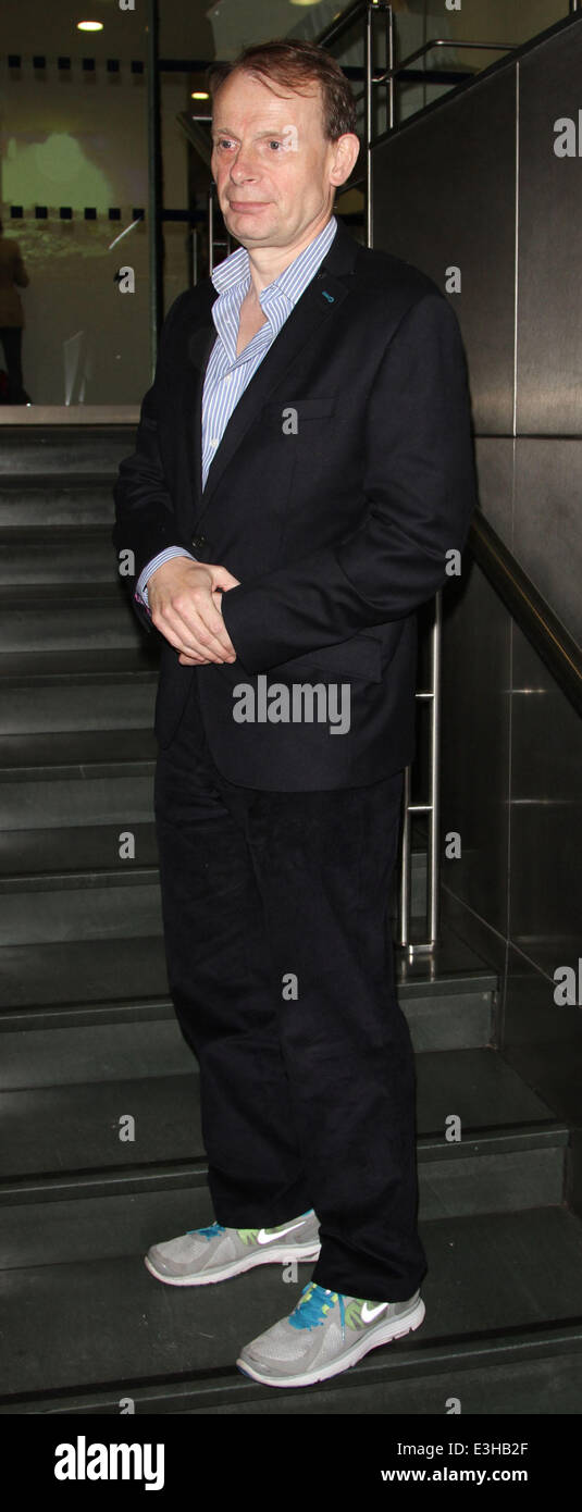 Celebrities leaving the DEC Philippines Typhoon Appeal telethon, held at BT Tower  Featuring: Andrew Marr Where: - Stock Image