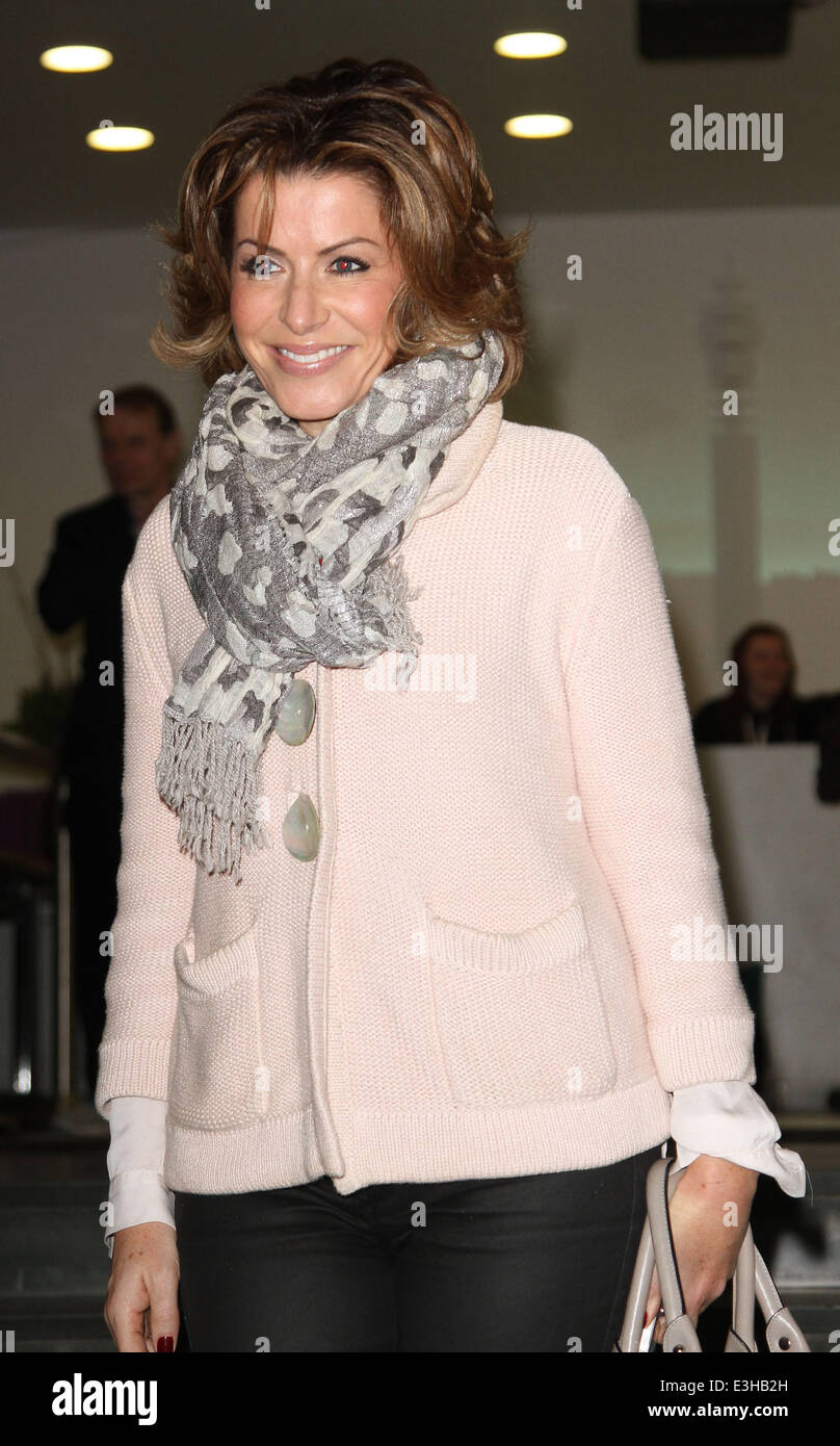 Celebrities leaving the DEC Philippines Typhoon Appeal telethon, held at BT Tower  Featuring: Natasha Kaplinski - Stock Image