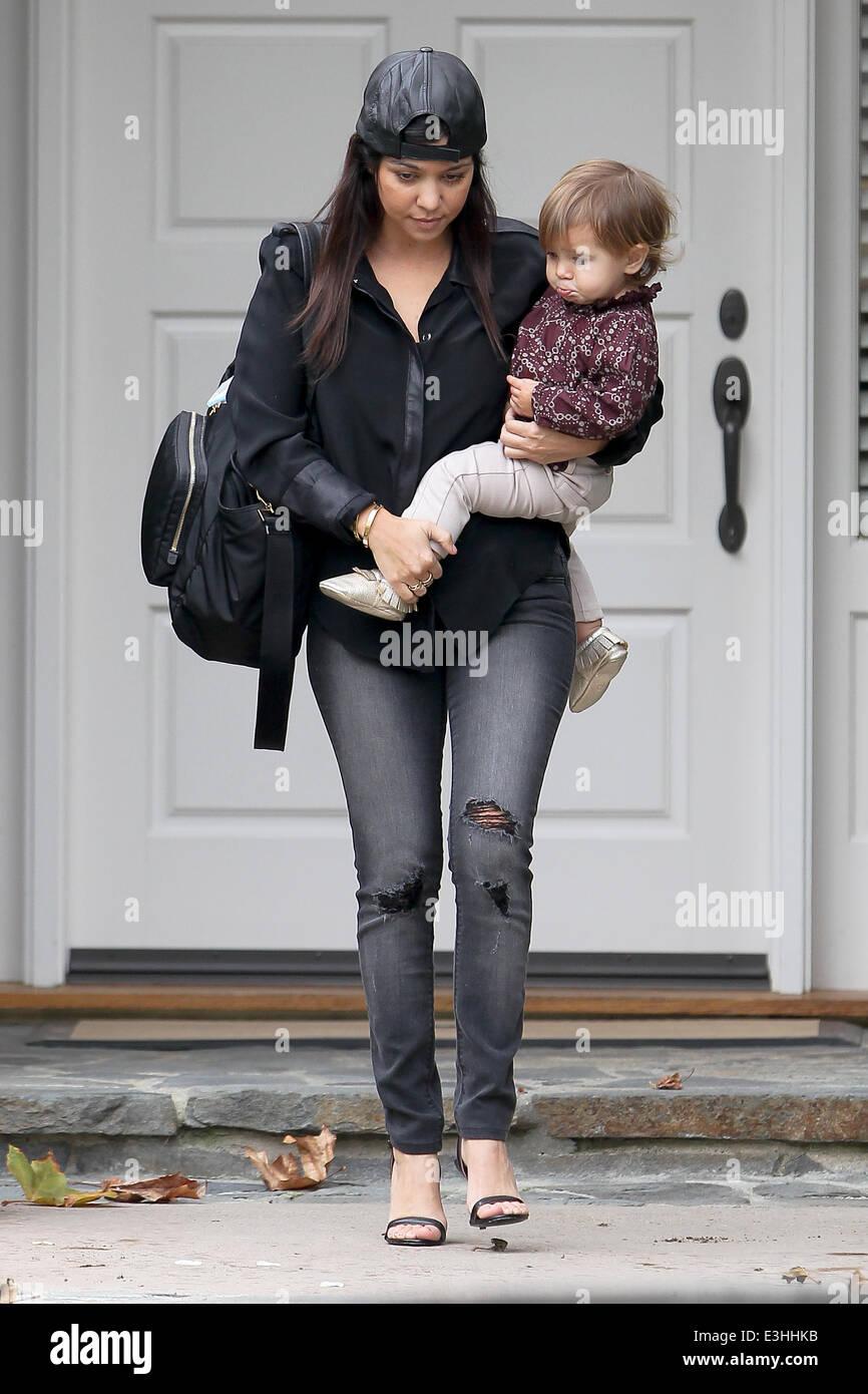 ab98ebbb724e Kourtney Kardashian carrying a Prada diaper bag