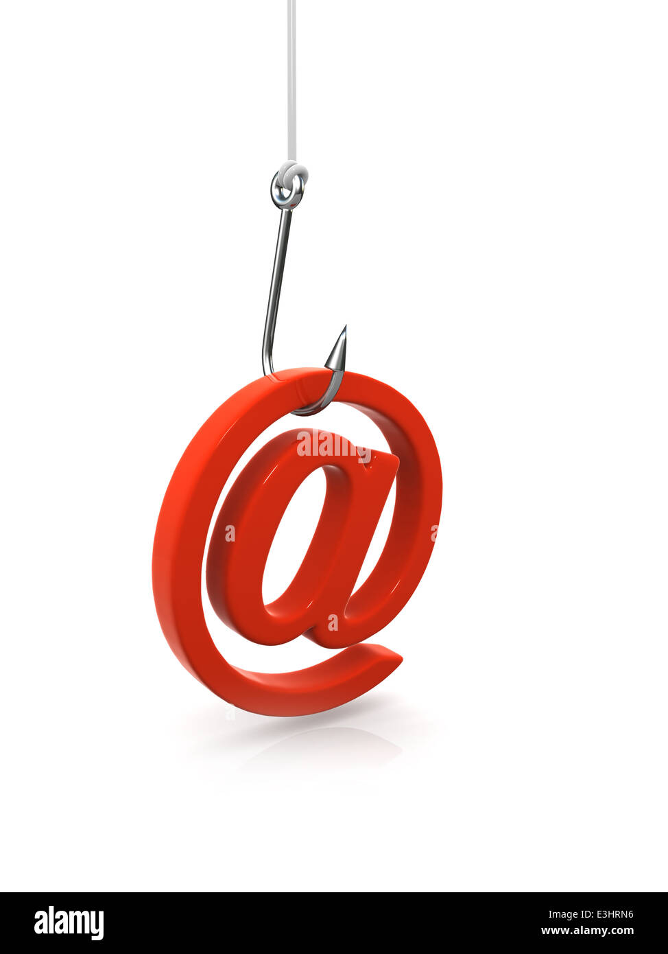 3d Email Address Symbol Caught Stock Photos 3d Email Address