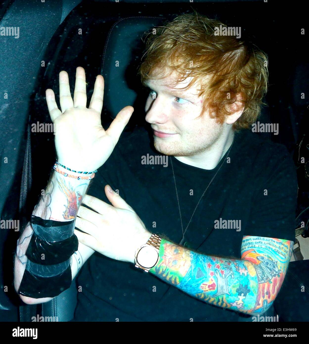 Ed sheeran leaving a tattoo shop in west hollywood the for My tattoo shop hollywood