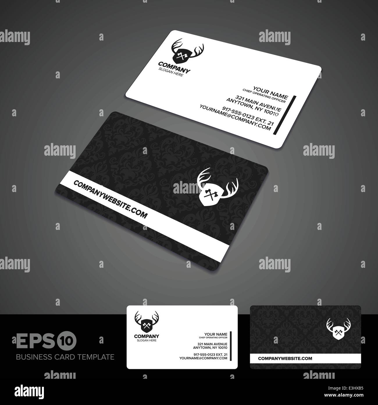 Rounded corner black white business card template stock vector art rounded corner black white business card template fbccfo Images