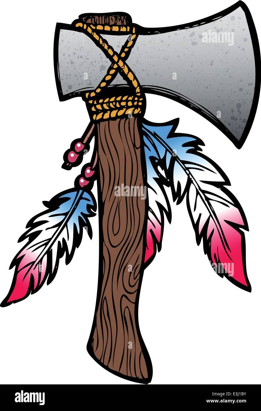 tomahawk axe indian stock photos   tomahawk axe indian Indian Warrior Logo Indian Warrior Logo