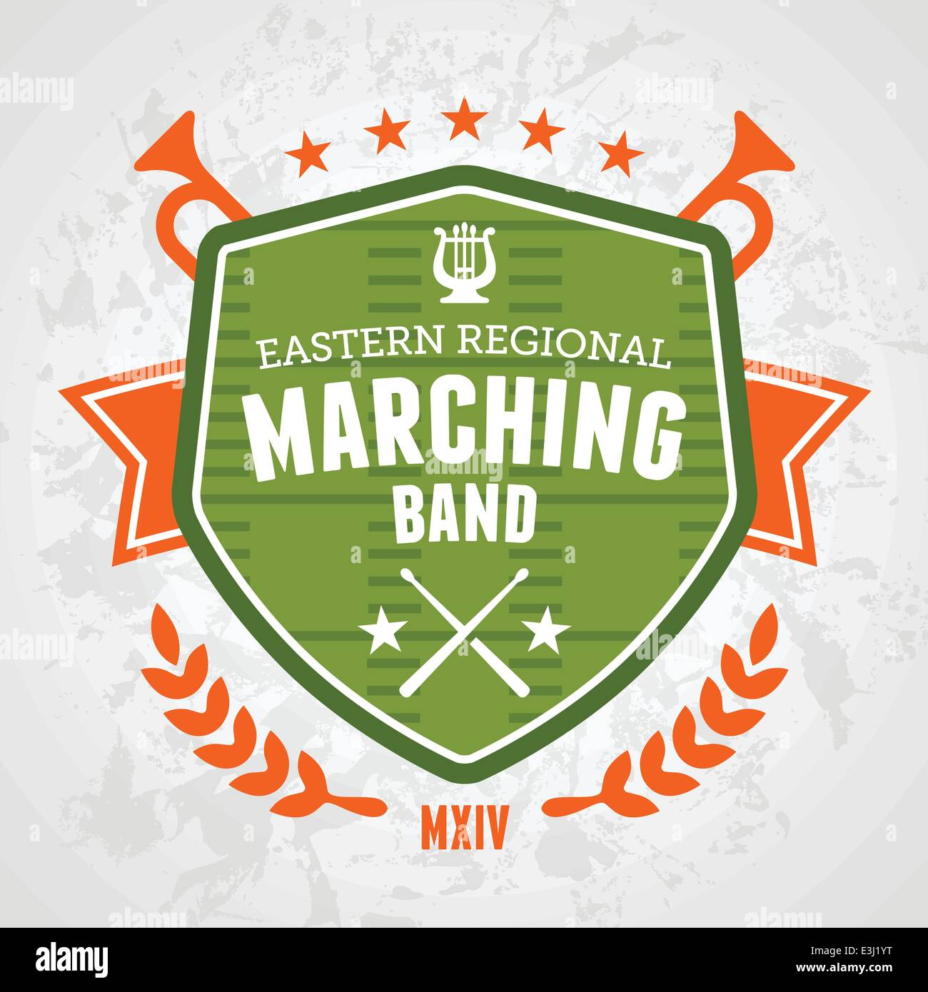 Marching Band Drum Corp Emblem Badge Design Stock Vector Art