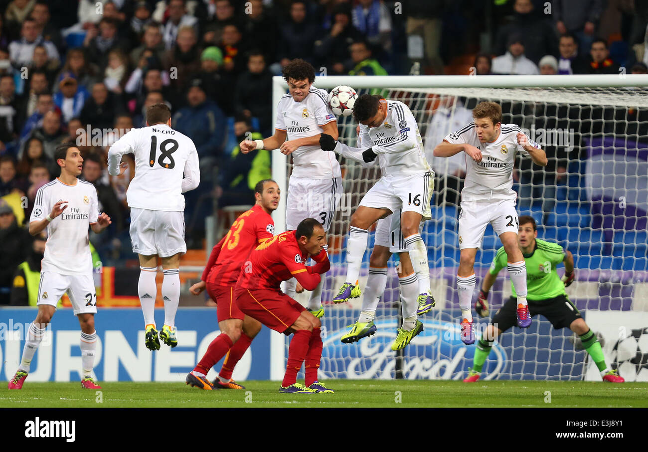 Uefa Champions League Group B Match Between Real Madrid And Stock