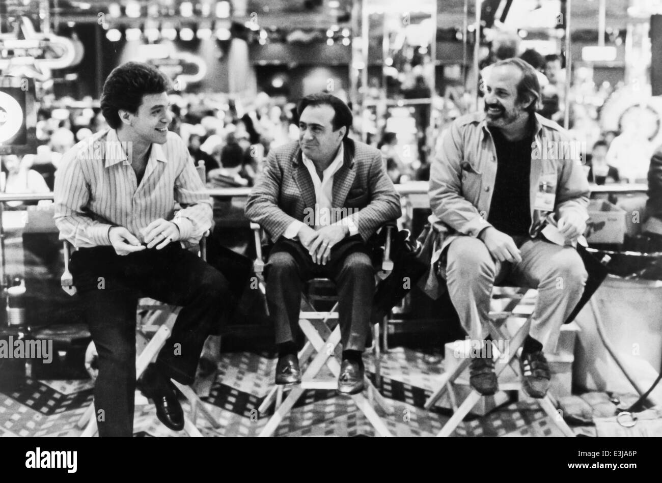 joe piscopo,danny de vito,brian de palma,wise guys,1986 - Stock Image