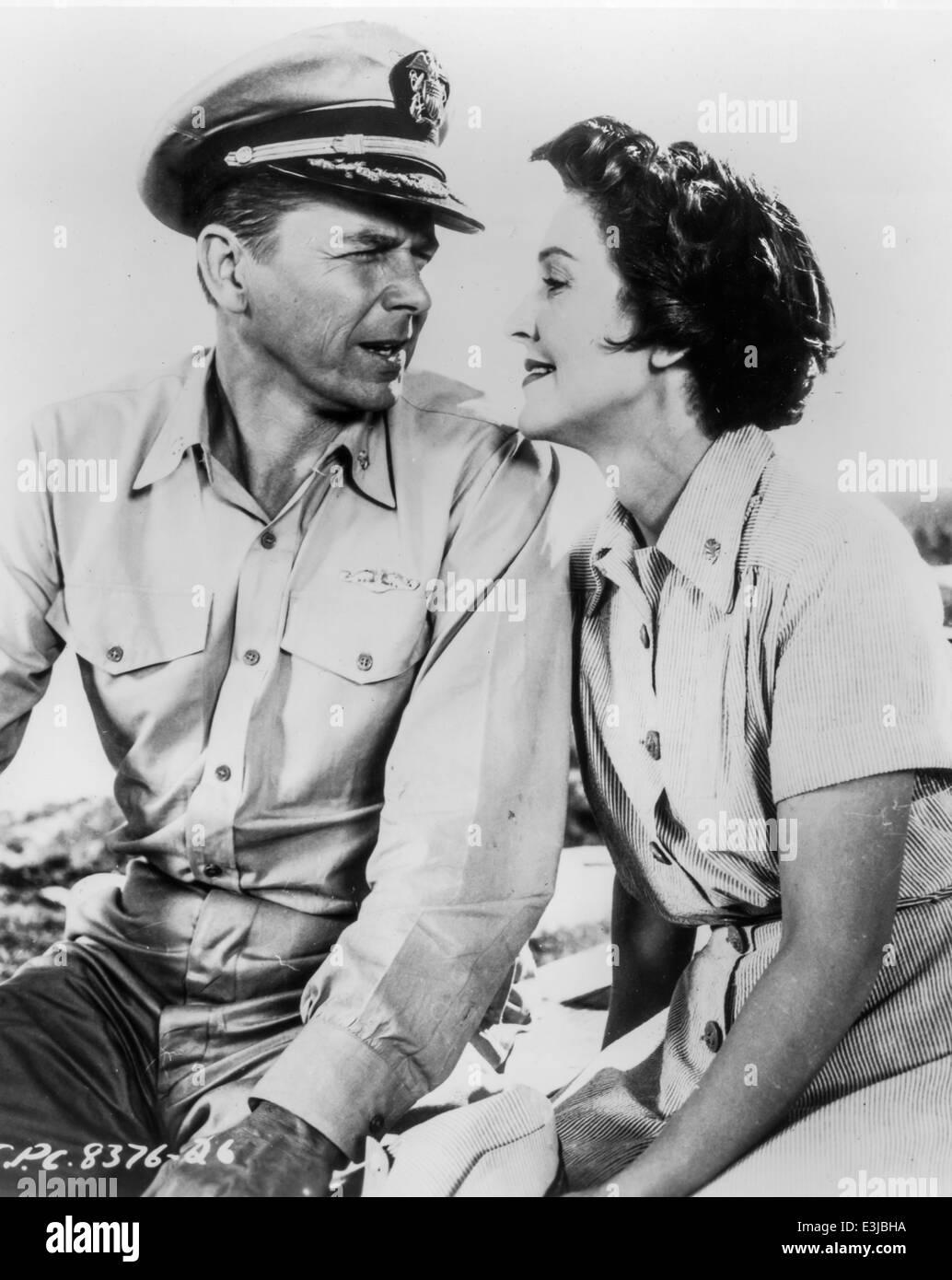 ronald reagan,nancy davis,hellcats of the navy - Stock Image