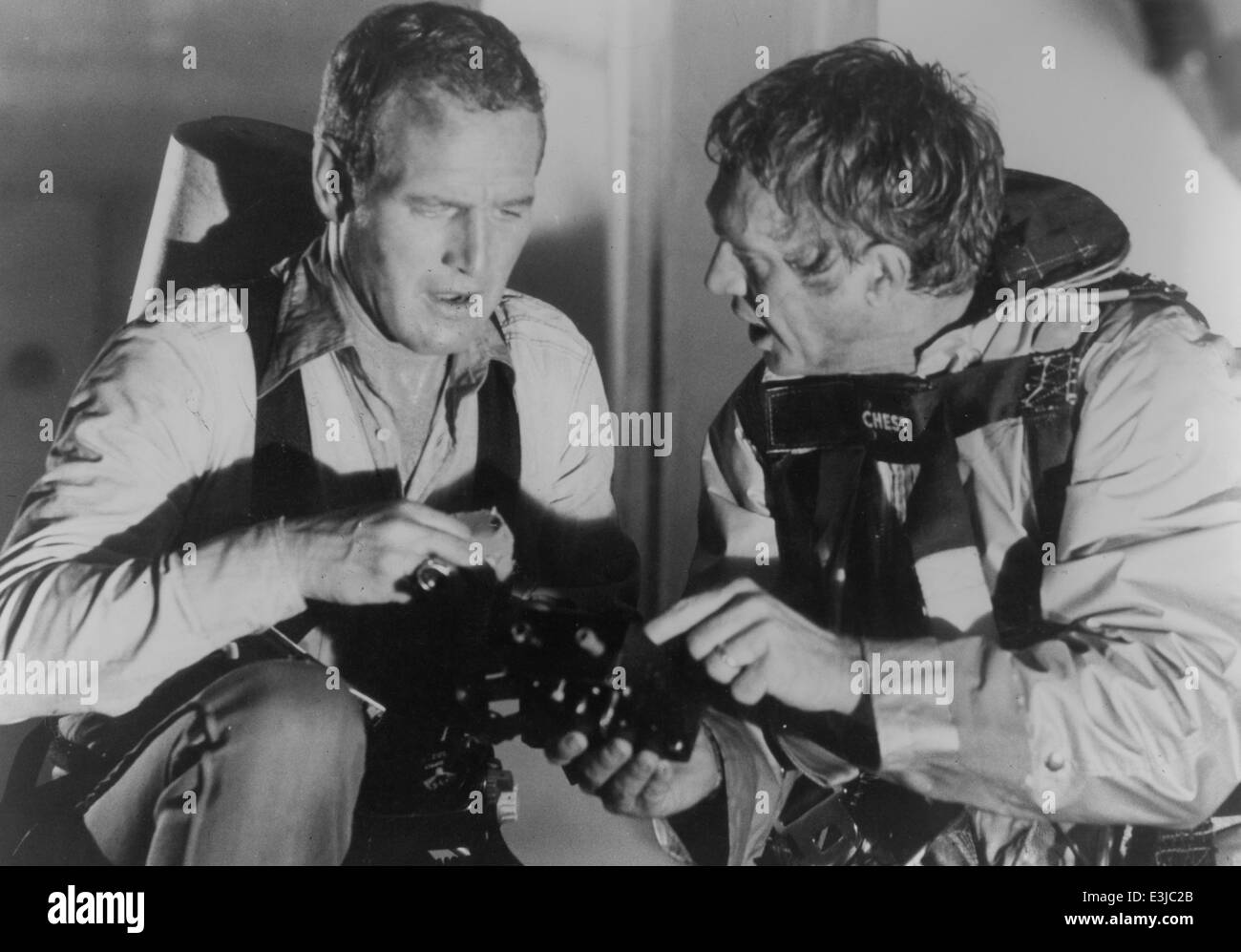 steve mc queen,paul newman,the towering inferno - Stock Image