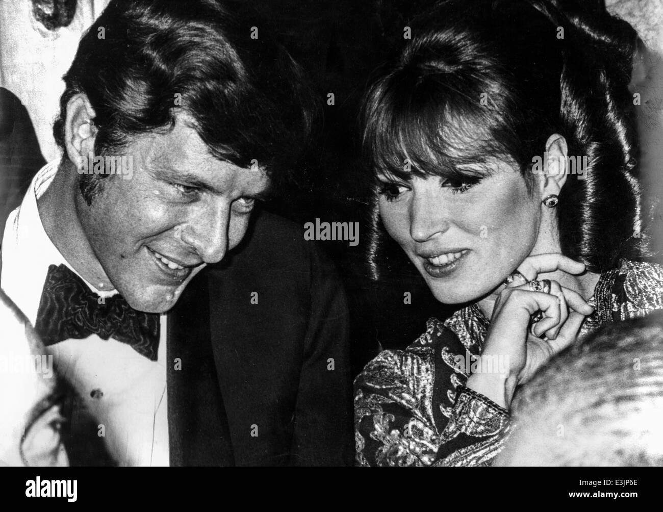 john paul getty and talitha dina pol,1967 - Stock Image