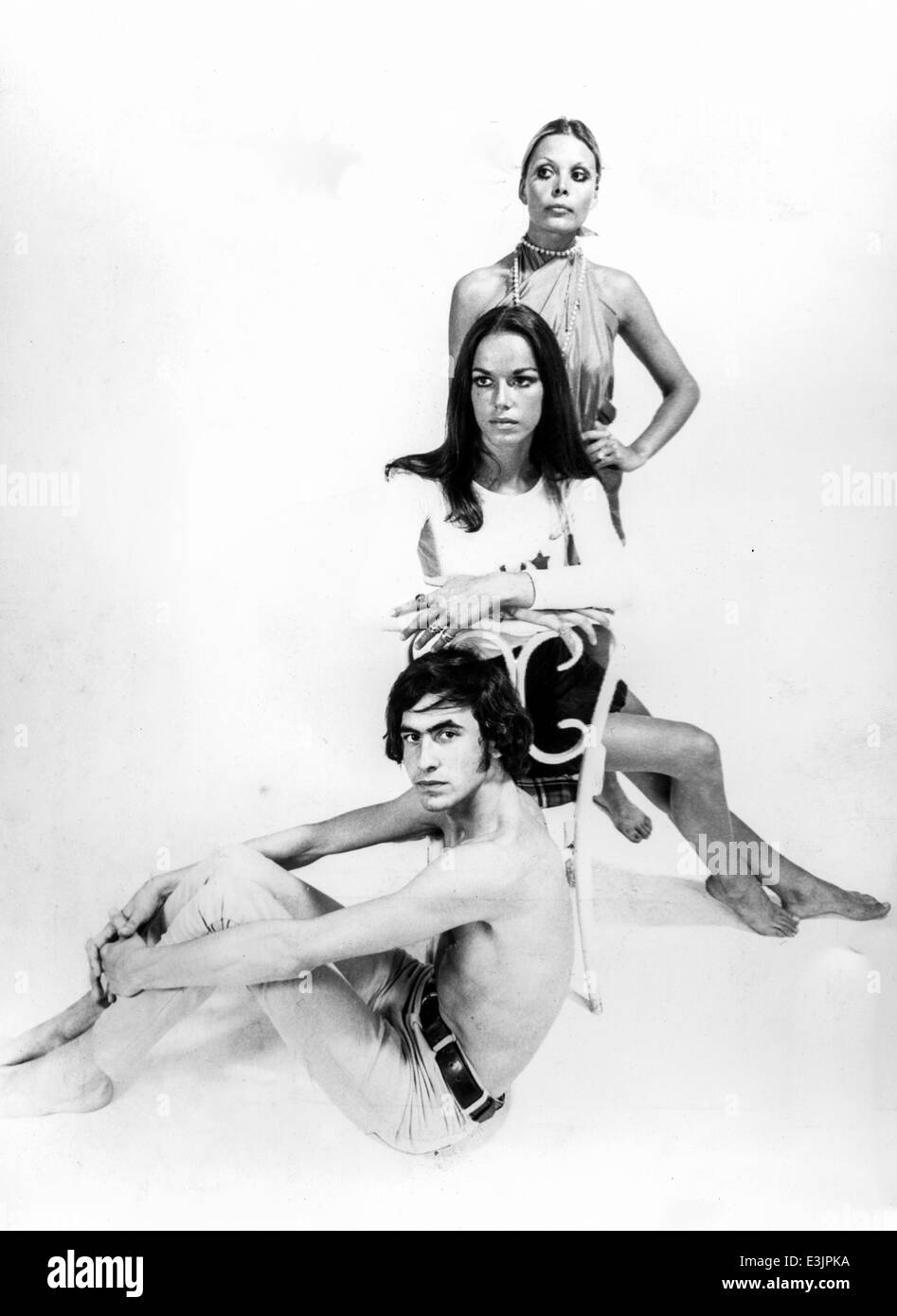 1970's style,models during a photo shoot - Stock Image