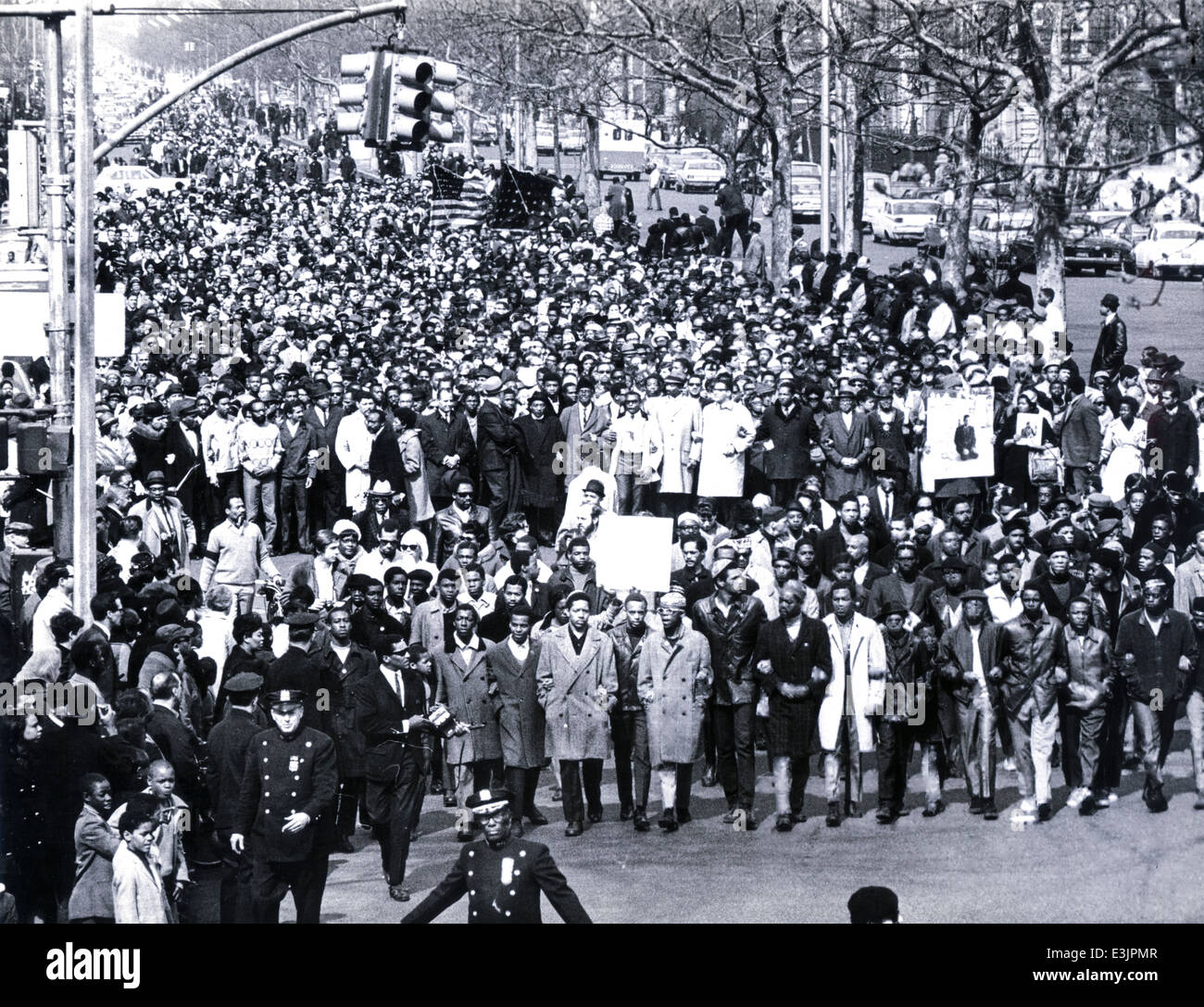crowd during the funeral of martin luther king,Atlanta, Georgia April 9, 1968 - Stock Image