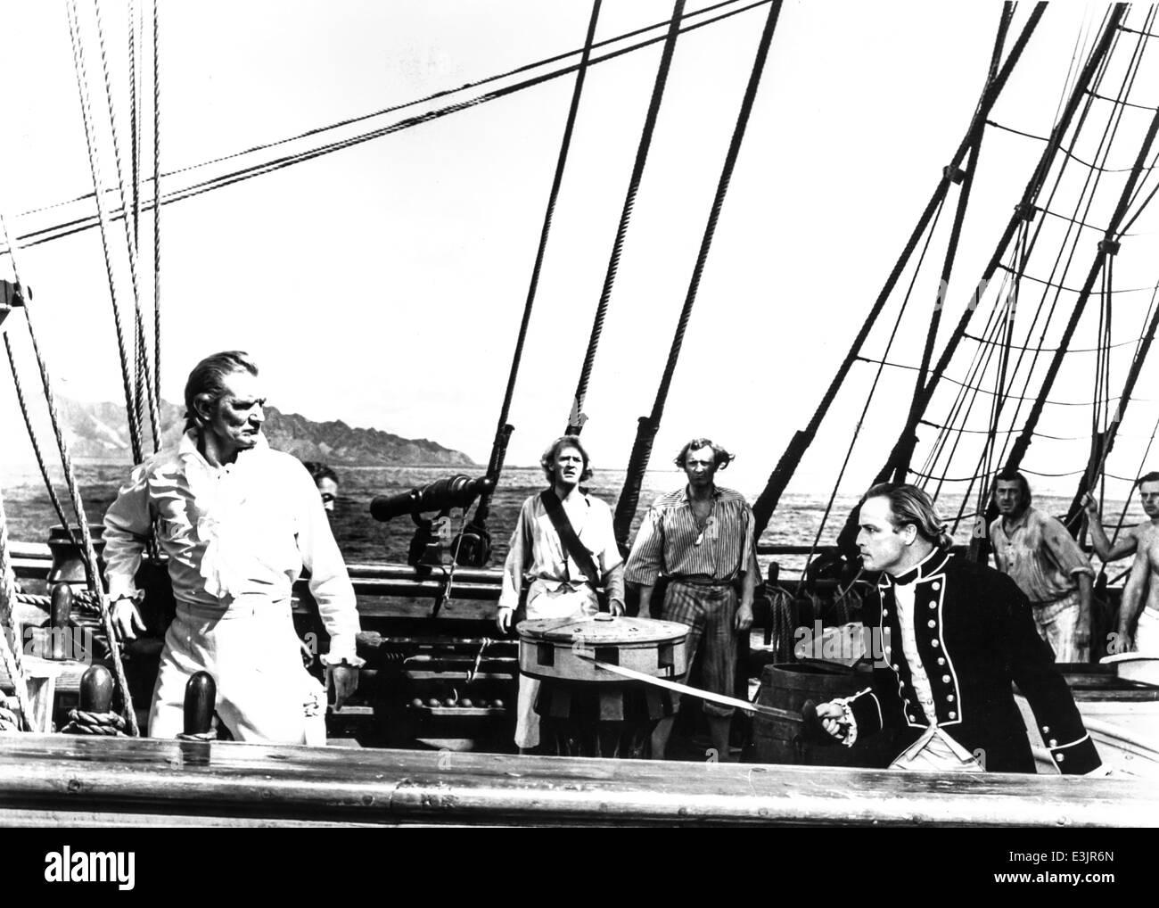 mutiny on the bounty,marlon brando and trevor howard,1962 - Stock Image