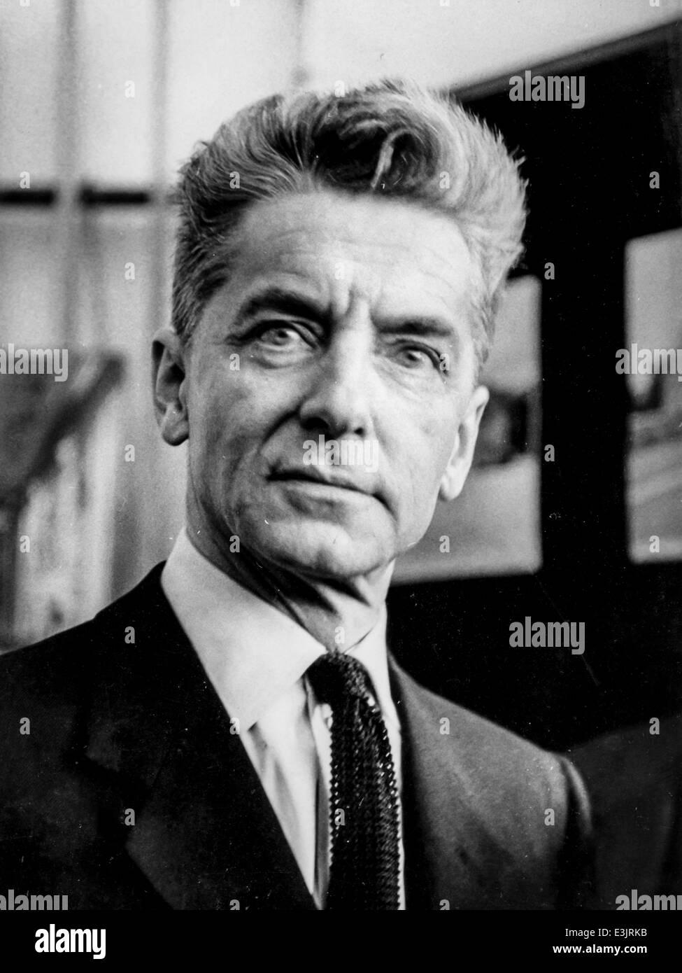 herbert von karajan,1962 - Stock Image