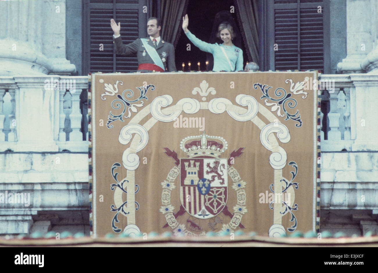 king juan carlos I and queen sofia of spain Stock Photo