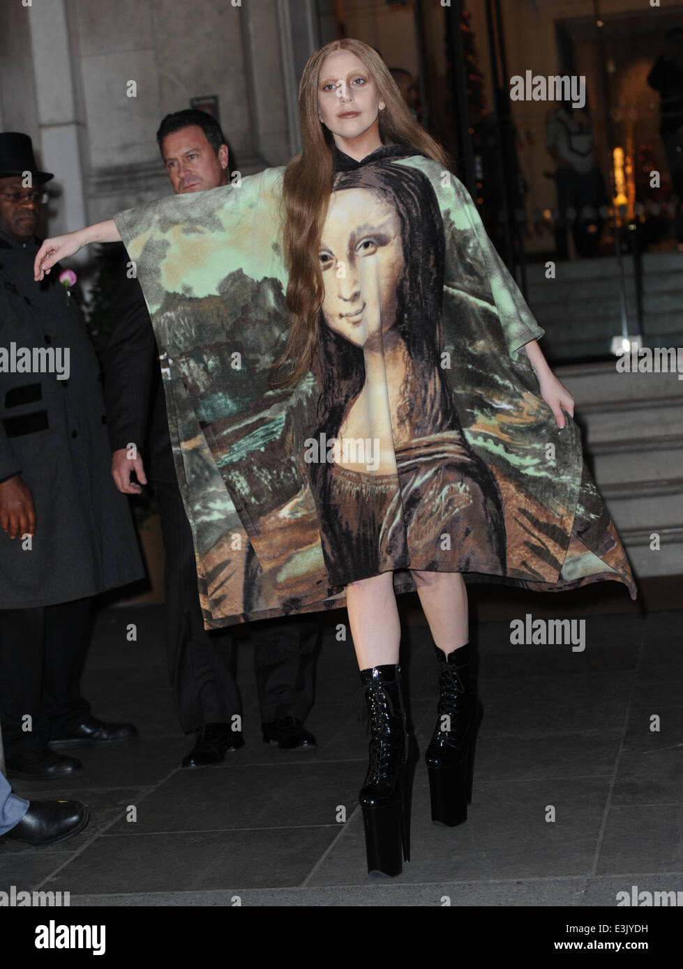 lady gaga seen leaving the langham hotel in london and going