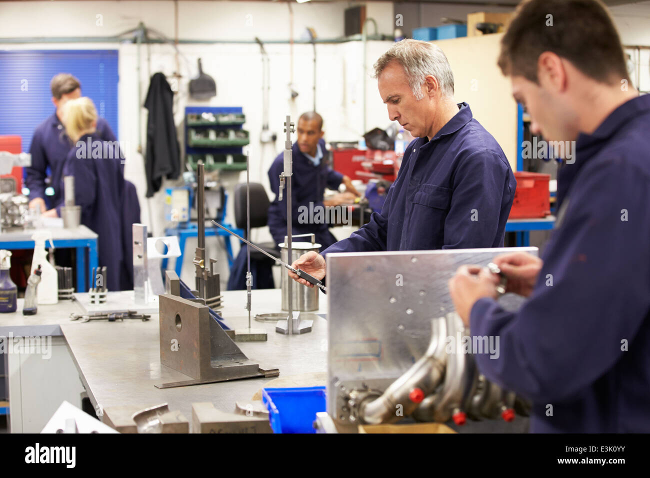 Busy Interior Of Engineering Workshop - Stock Image