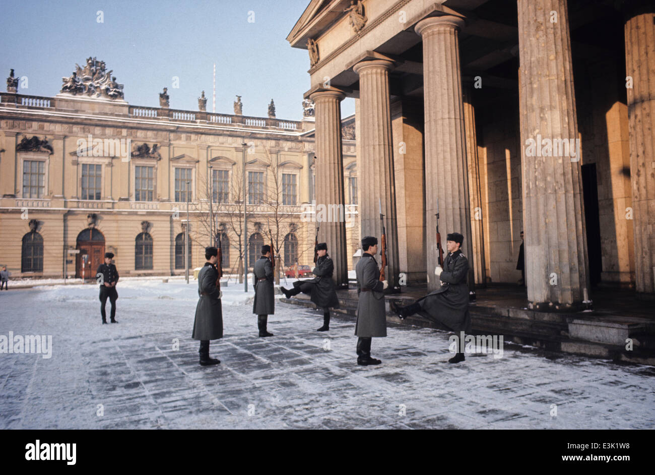 change of the guard,east berlin,east germany,70's - Stock Image